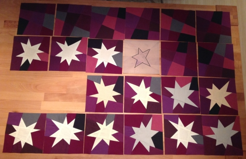 WIP Wednesday: Wonky Starquilt |mell-meyer.de