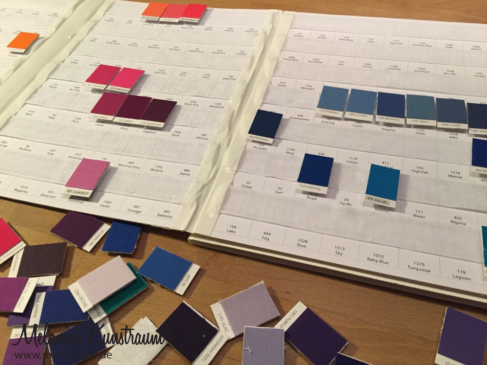 Mini Tutorial – Velcro Kona ColorCard | mell-meyer.de