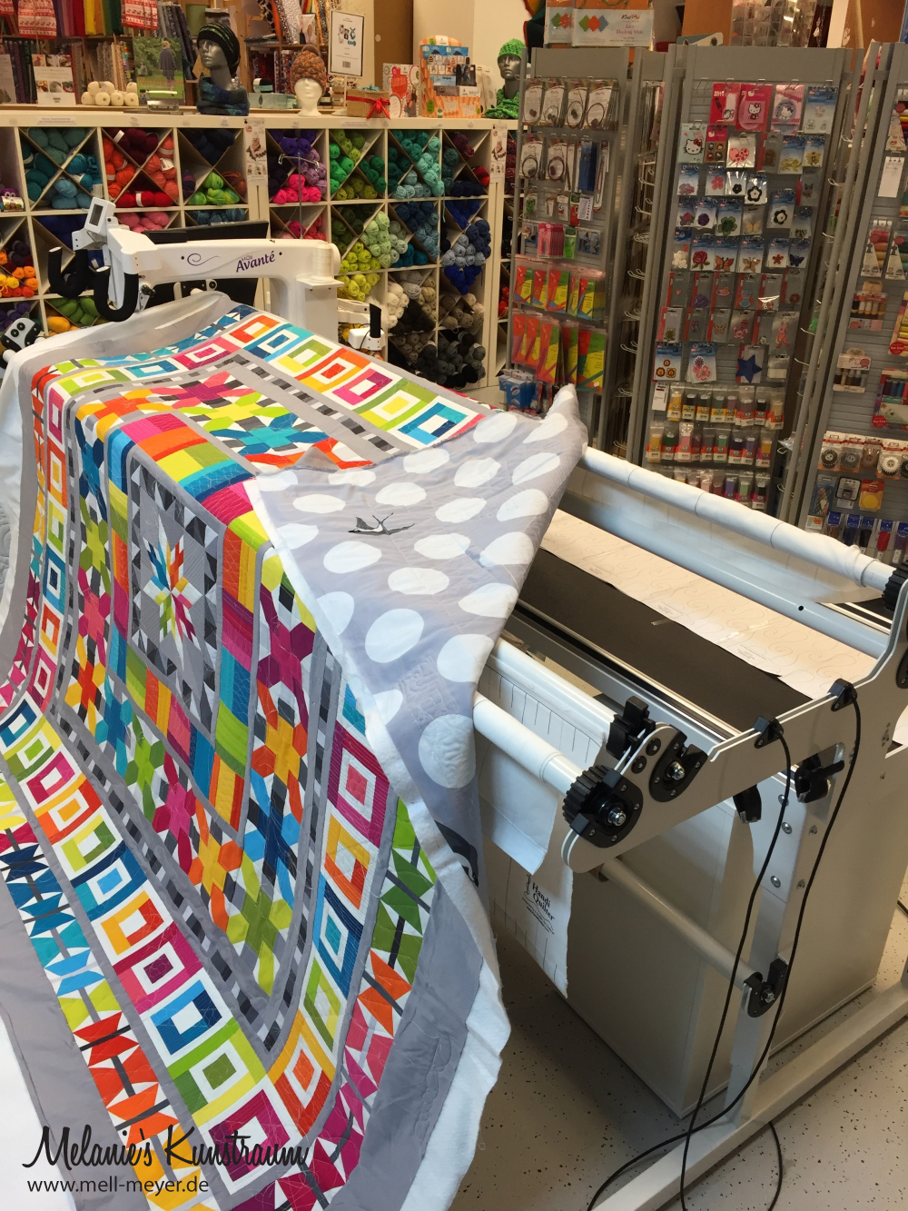 How to forget the two most important things for the road trip to the longarm machine | mell-meyer.de