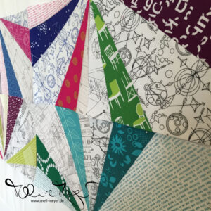 "Quilty Circle of Bees – July/ August 2016 ""Prism"""