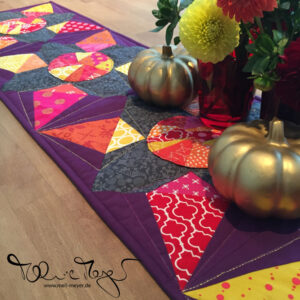 A New Tablerunner – Patterntesting #jeweledkaleidoscopequilt