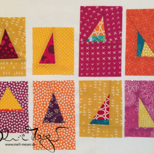 "Quilty Circle of Bees – September/ October 2016 ""Improv Triangles"""