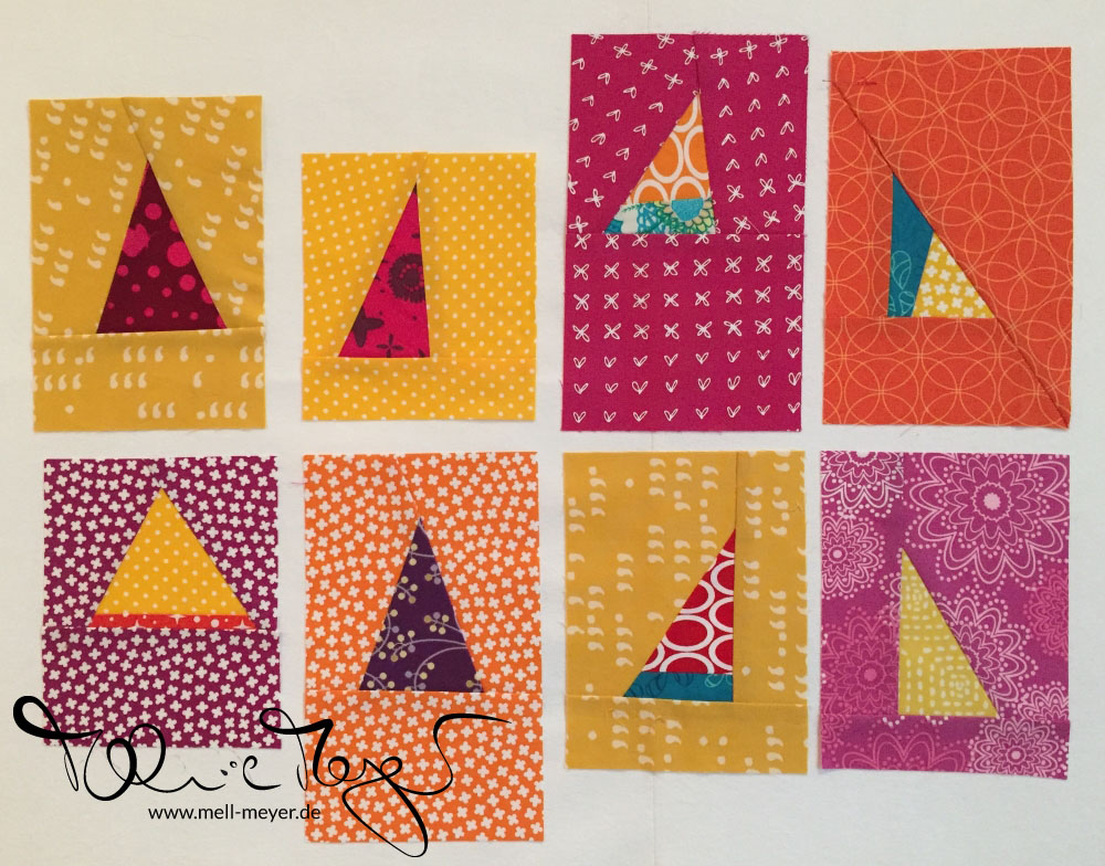 "Quilty Circle of Bees - September/ October ""Improv Triangles"" 