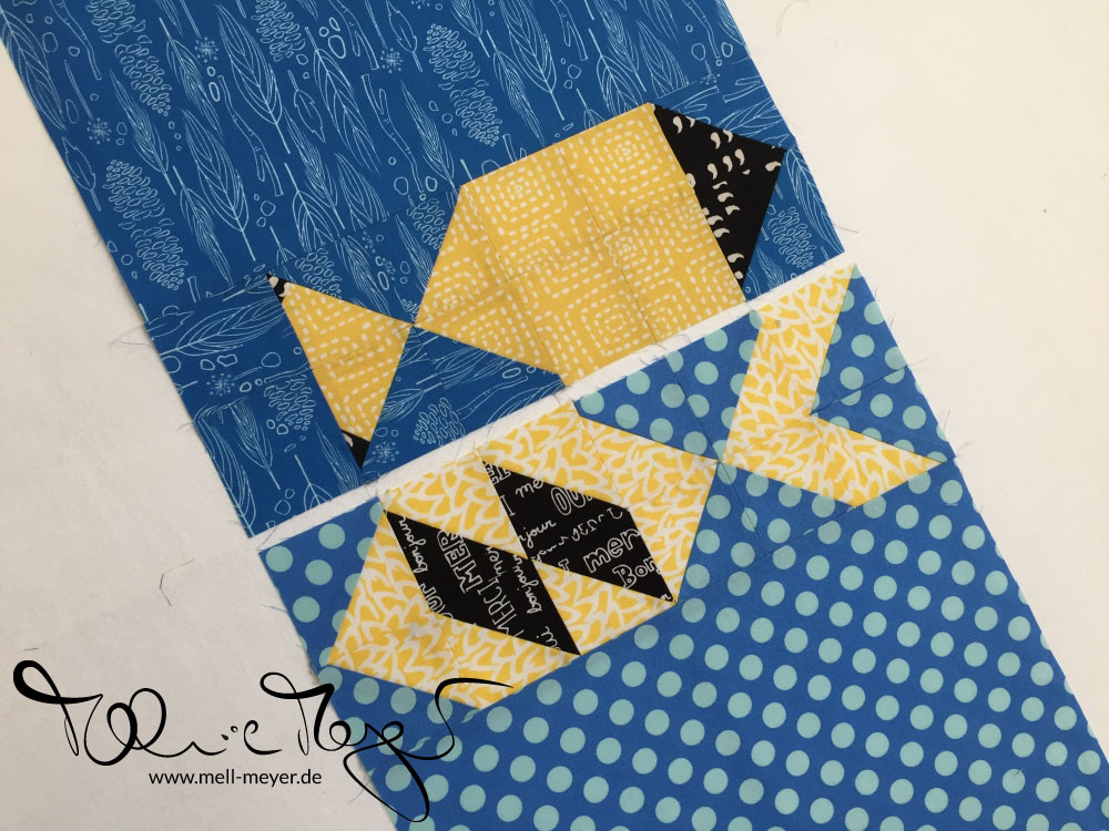 "Quilty Circle of Bee - November/ December ""Plenty of Fish"" 