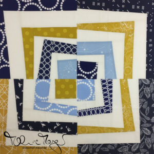 "Quilty Circle of Bees – January/ February 2017 ""Improv Quarter Log Cabin"""
