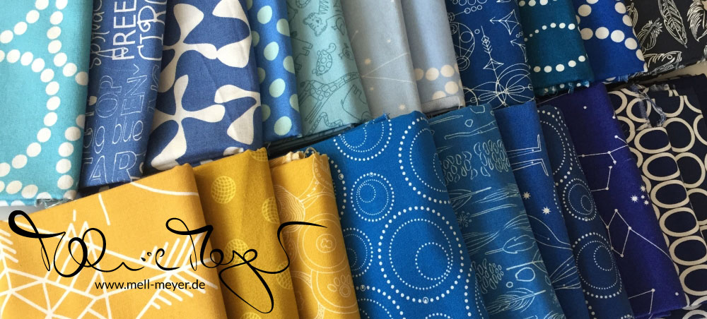 """Quilty Circle of Bees - January/ February 2017 """"Improv Quarter Log Cabin"""" 
