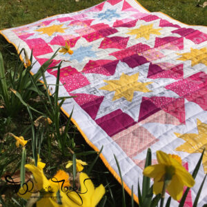 "Lina's Quilt ""Pink Stars"""