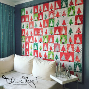 """""""Patchwork Forest"""" Christmas Quilt Top"""