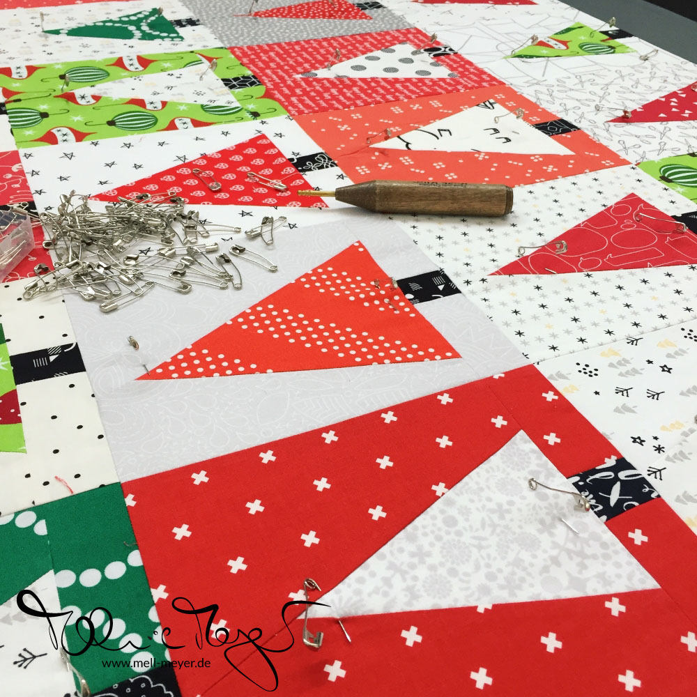 """Patchwork Forest"" Christmas Quilt 