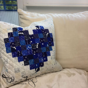 Pixelated Heart – Comfort Pillow for Ruth