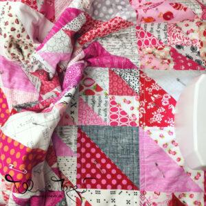 """""""Pretty in Pink"""" – Pink HST Quilt"""