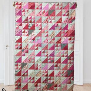 Pink HST Quilt