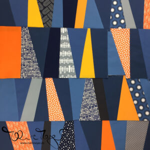 """Quilty Circle of Bees – August/September 2019 """"Wedge Slabs"""""""