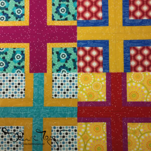 "Quilty Circle of Bees – March/April 2020 ""Intersection Block"""