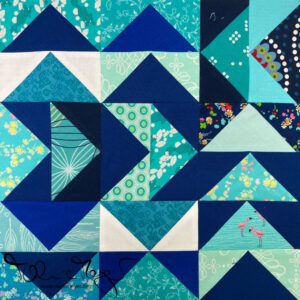 """Quilty Circle of Bees – September/October 2020 """"Scrappy Flying Geese"""""""