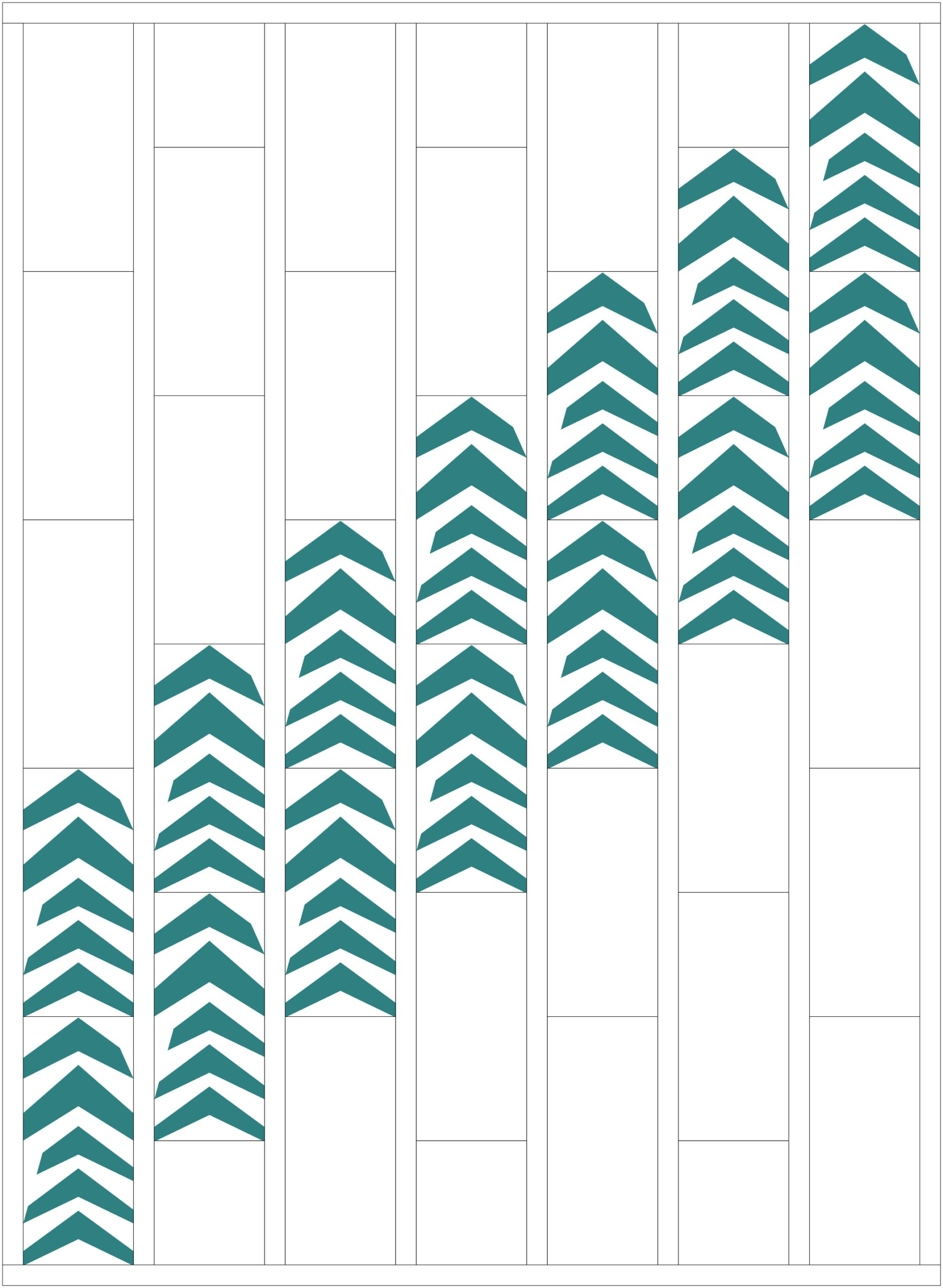Wonky Chevrons - Alternate Layout Option 1 | mellmeyer.de