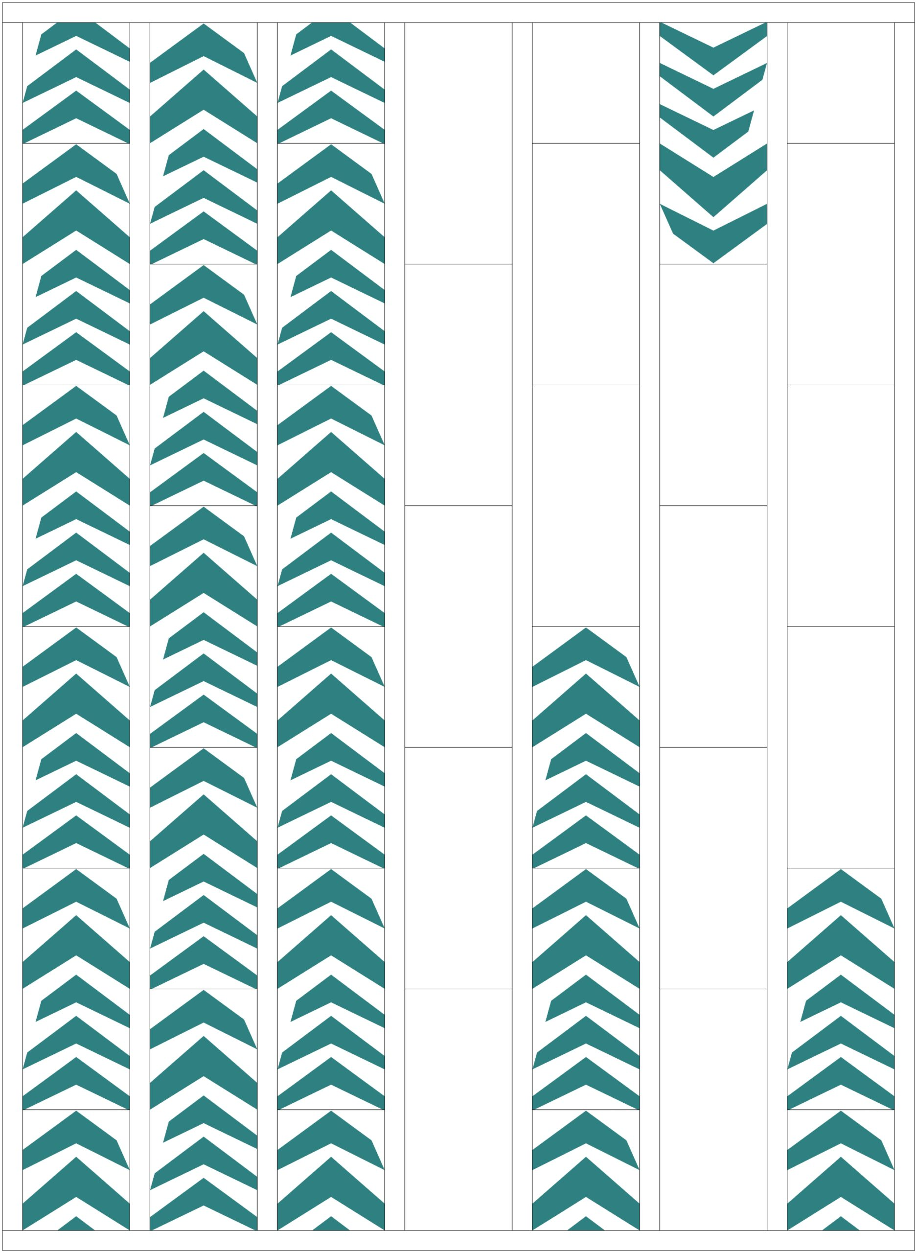 Wonky Chevrons - Alternate Layout Option 2 | mellmeyer.de