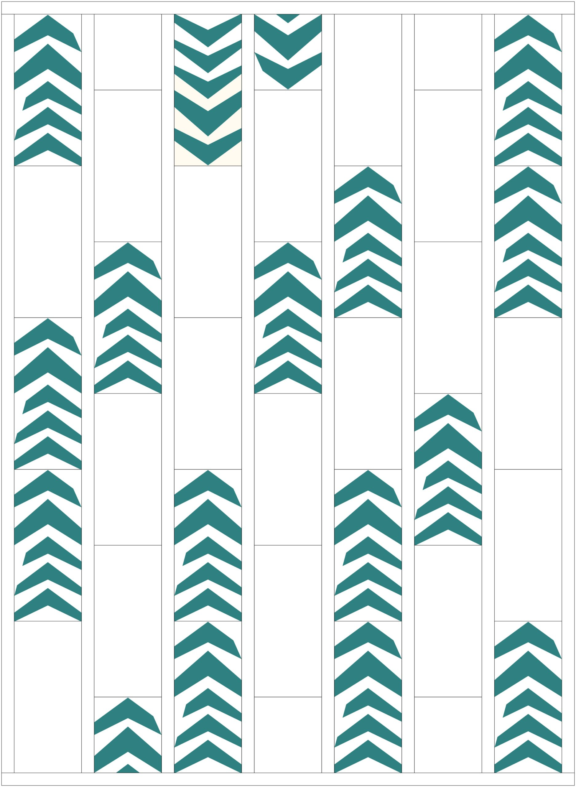 Wonky Chevrons - Alternate Layout Option 3 | mellmeyer.de