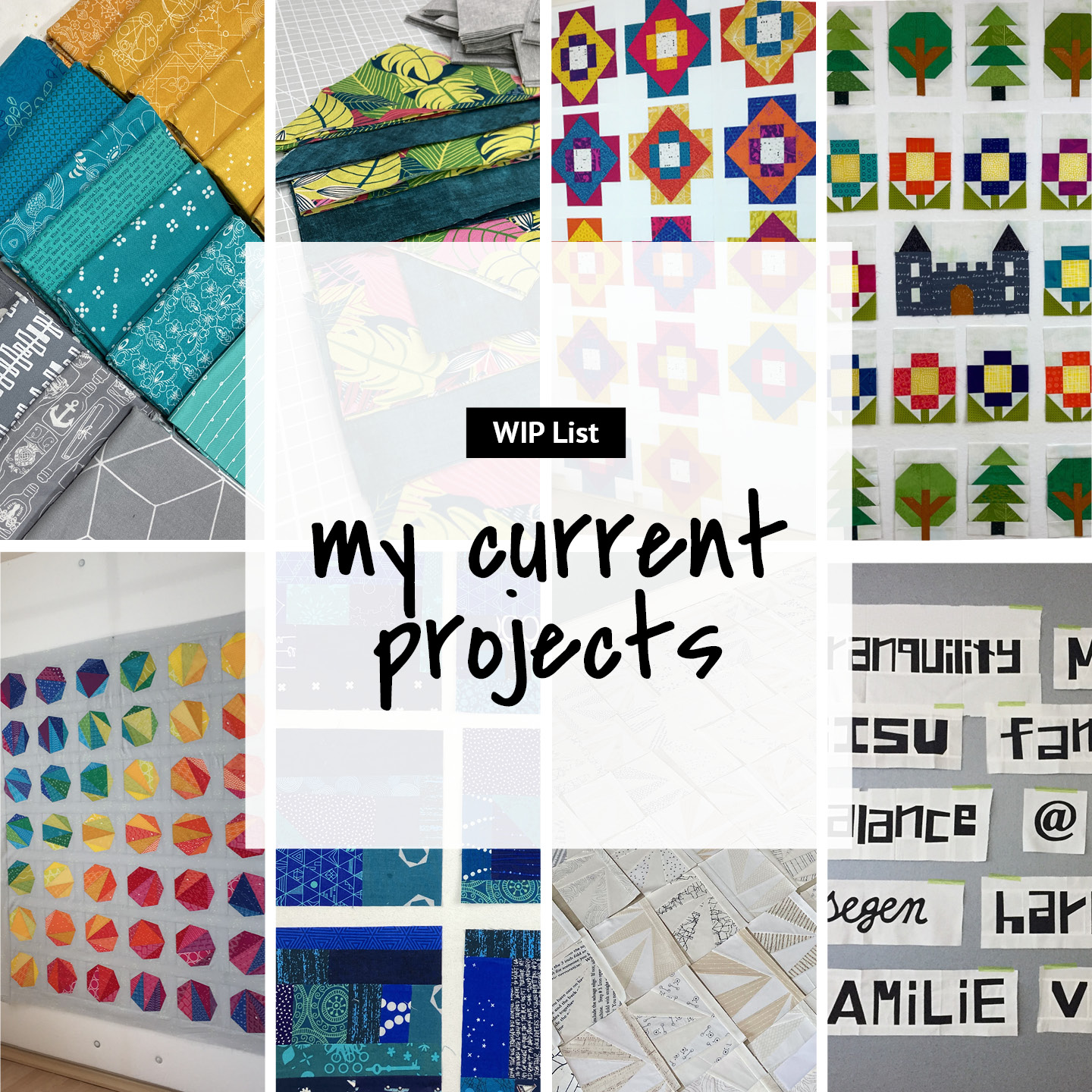 """WIP List """"my current projects"""" 